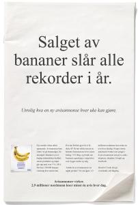 Salget av bananer slår alle rekorder i år.